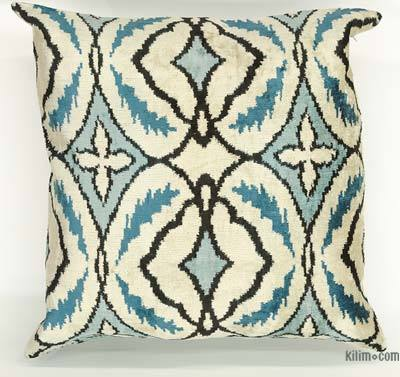 "Velvet Ikat Pillow Cover - 1'11"" x 1'10"" (23 in. x 22 in.)"