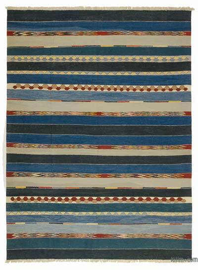 Blue New Turkish Kilim Rug