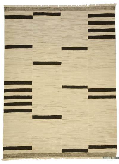 Beige, Brown New Turkish Kilim Rug