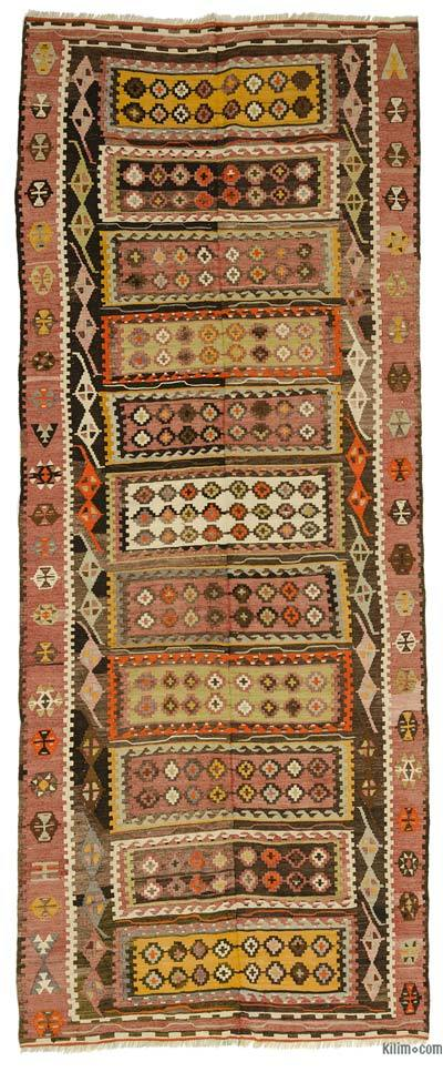 Multicolor Vintage Corum Kilim Rug