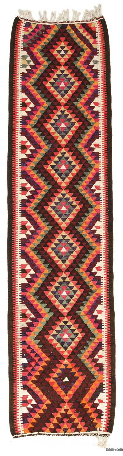 "Vintage Turkish Kilim Runner - 3'1"" x 11'11"" (37 in. x 143 in.)"