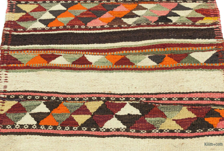 K0033579 Multicolor Vintage Turkish Kilim Runner 2 8 X