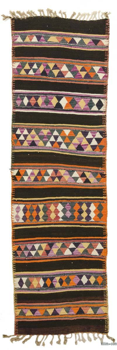 "Vintage Turkish Kilim Runner - 3' x 9'11"" (36 in. x 119 in.)"