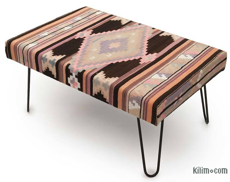 K0033646 Kilim Ottoman With Hairpin Legs Kilimcom The Source For