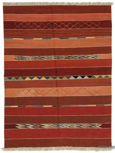 "New Handwoven Turkish Kilim Rug - 5'2"" x 6'8"" (62 in. x 80 in.)"