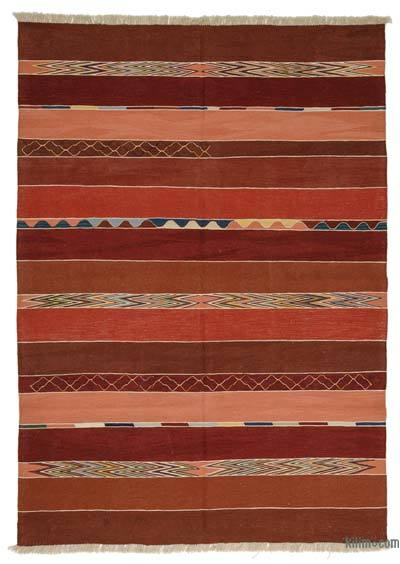"New Handwoven Turkish Kilim Rug - 6'9"" x 9'9"" (81 in. x 117 in.)"