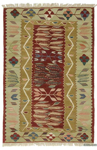 "New Handwoven Turkish Kilim Rug - 3'9"" x 5'11"" (45 in. x 71 in.)"