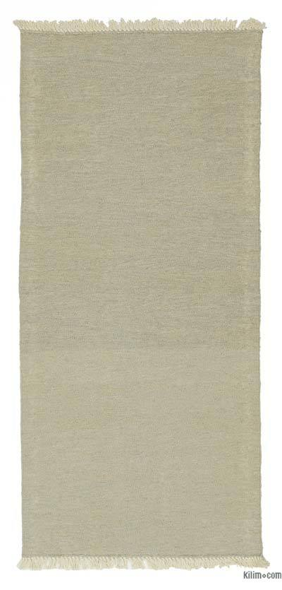 Beige, Green New Turkish Kilim Runner