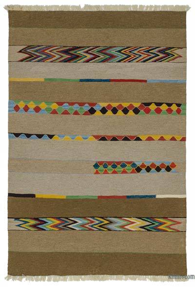 "New Handwoven Turkish Kilim Rug - 4'1"" x 6'1"" (49 in. x 73 in.)"