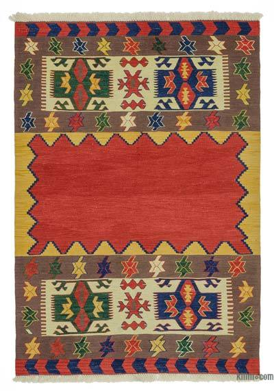 "New Handwoven Turkish Kilim Rug - 4'2"" x 5'10"" (50 in. x 70 in.)"