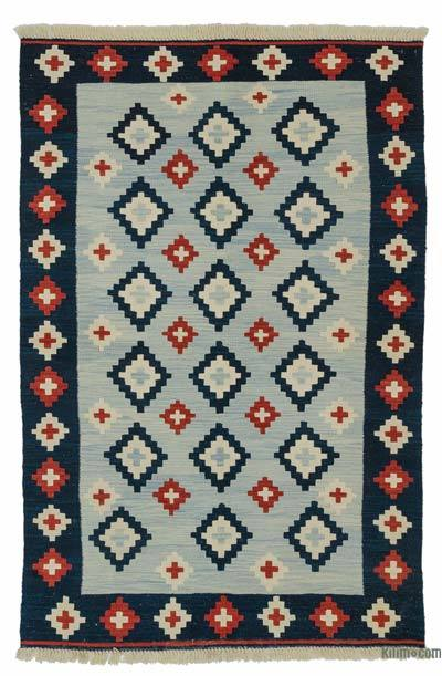 "New Handwoven Turkish Kilim Rug - 4'1"" x 6'2"" (49 in. x 74 in.)"
