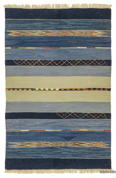 "New Handwoven Turkish Kilim Rug - 4' x 6'2"" (48 in. x 74 in.)"