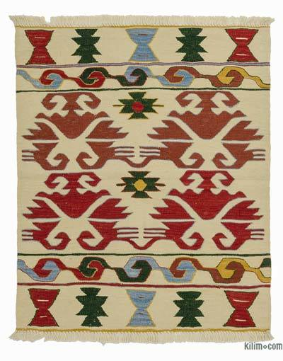 "New Handwoven Turkish Kilim Rug - 3'2"" x 3'8"" (38 in. x 44 in.)"
