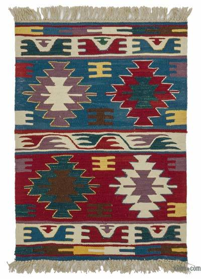"New Handwoven Turkish Kilim Rug - 2'2"" x 2'11"" (26 in. x 35 in.)"
