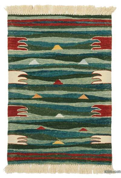 Green New Turkish Kilim Rug