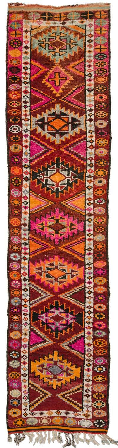 Multicolor Vintage Turkish Runner Rug