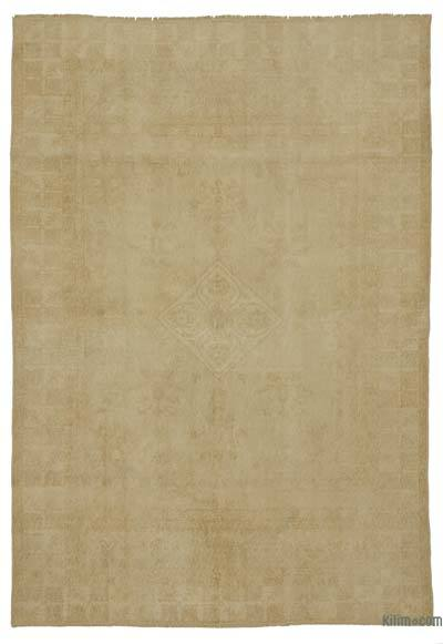 Beige Turkish Vintage Rug