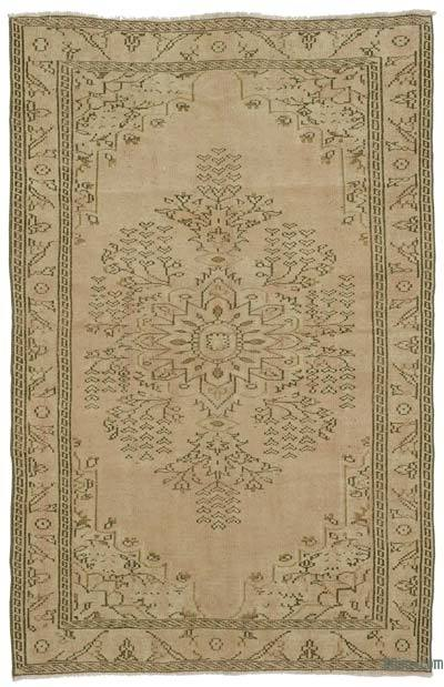 Turkish Vintage Area Rug - 5'4'' x 8'4'' (64 in. x 100 in.)