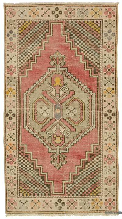 Turkish Vintage Area Rug - 3'5'' x 6'4'' (41 in. x 76 in.)