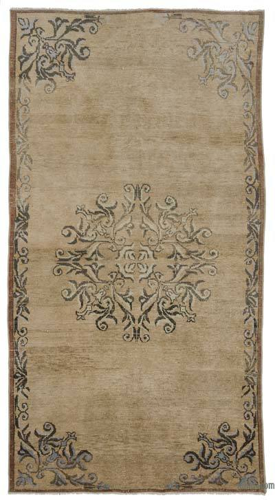 Turkish Vintage Area Rug - 4'6'' x 8'8'' (54 in. x 104 in.)