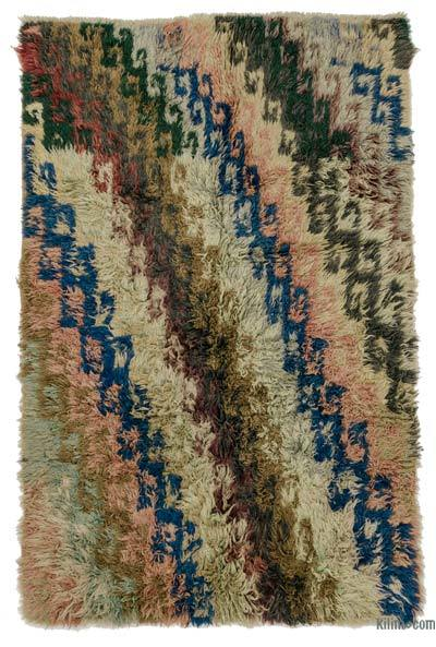 Multicolor Vintage Turkish Tulu Rug