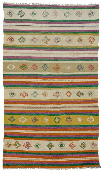 Multicolor Vintage Turkish Kilim Rug