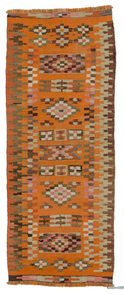 Orange Vintage Turkish Kilim Runner