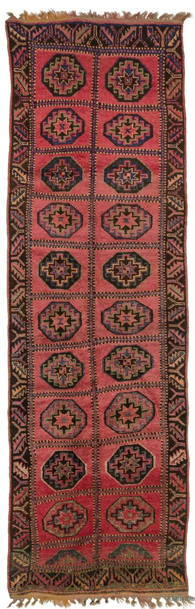 Red Vintage Turkish Runner Rug