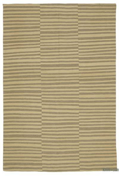 Beige New Turkish Kilim Rug