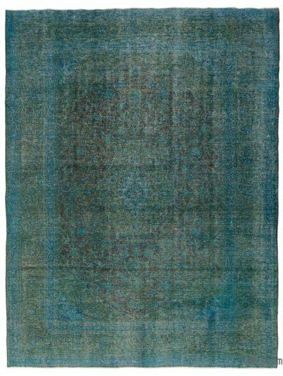 Turquoise Over-dyed Vintage Rug - 9'9'' x 12'8'' (117 in. x 152 in.)