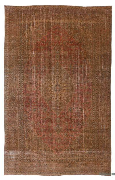 Brown Over-dyed Vintage Rug - 8'11'' x 14'1'' (107 in. x 169 in.)