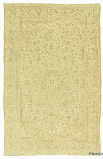 Beige Over-dyed Vintage Rug - 7'10'' x 12'3'' (94 in. x 147 in.)