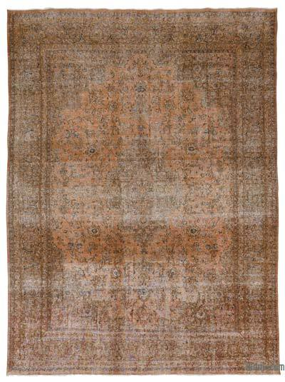 Brown Over-dyed Vintage Rug - 9'5'' x 12'7'' (113 in. x 151 in.)