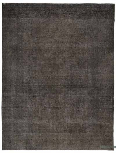 Black Over-dyed Vintage Rug - 9'10'' x 12'10'' (118 in. x 154 in.)