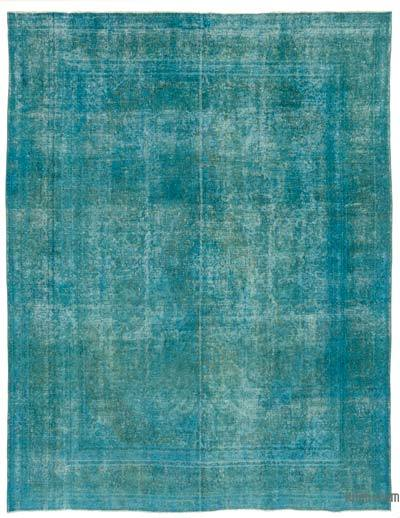 Turquoise Over-dyed Vintage Rug - 9'4'' x 12'8'' (112 in. x 152 in.)