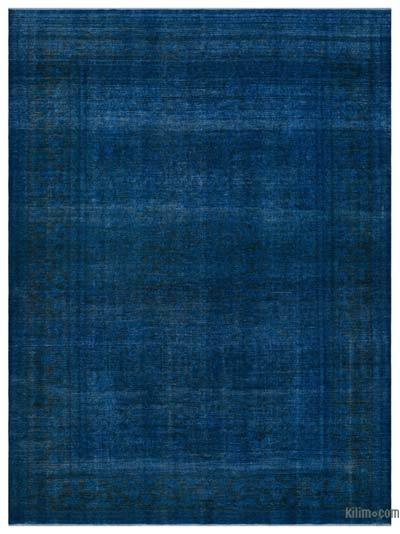 Turquoise Over-dyed Vintage Rug - 9'8'' x 13'3'' (116 in. x 159 in.)
