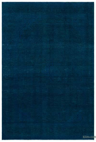 Turquoise Over-dyed Vintage Rug - 8'7'' x 13' (103 in. x 156 in.)