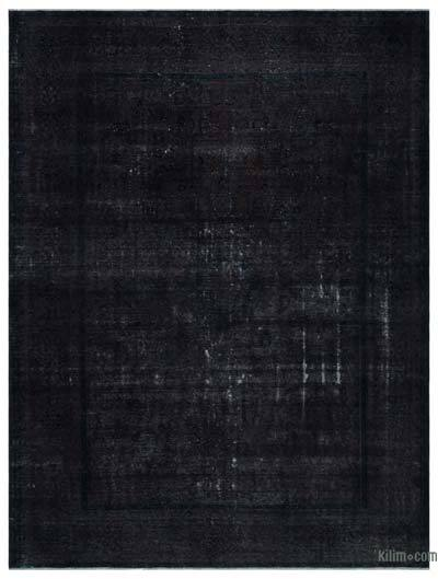 Black Over-dyed Vintage Rug - 9'7'' x 12'8'' (115 in. x 152 in.)