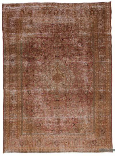Brown Over-dyed Vintage Rug - 9'4'' x 12'8'' (112 in. x 152 in.)