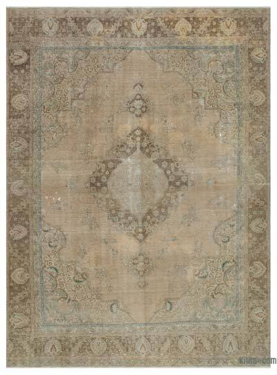 Beige Over-dyed Vintage Rug - 8'9'' x 12' (105 in. x 144 in.)