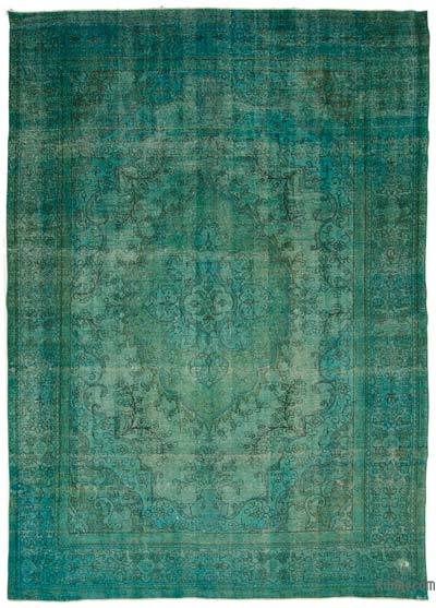 "Over-dyed Vintage Hand-knotted Oriental Rug - 9'1"" x 12'6"" (109 in. x 150 in.)"