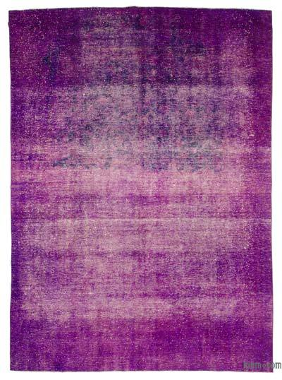 Purple Over-dyed Vintage Rug - 9'4'' x 12'10'' (112 in. x 154 in.)