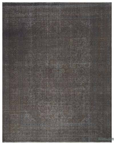 Grey Over-dyed Vintage Rug - 9'10'' x 12'7'' (118 in. x 151 in.)