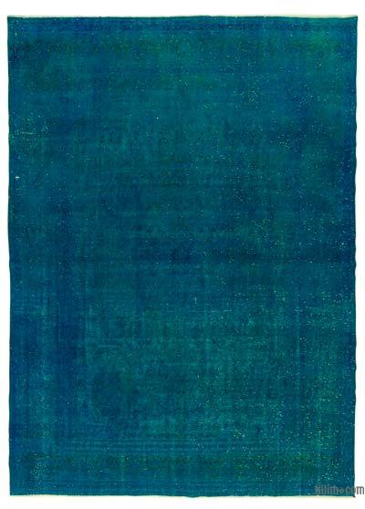 Turquoise Over-dyed Vintage Rug - 9'3'' x 13'1'' (111 in. x 157 in.)