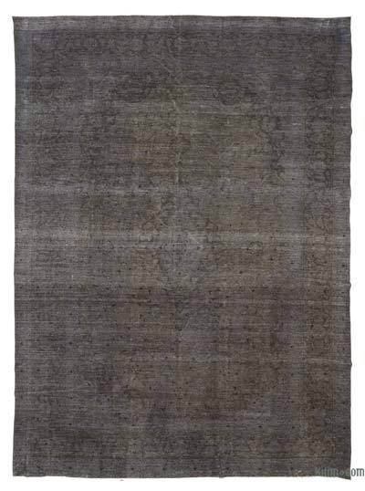 Grey Over-dyed Vintage Rug - 9'6'' x 12'11'' (114 in. x 155 in.)