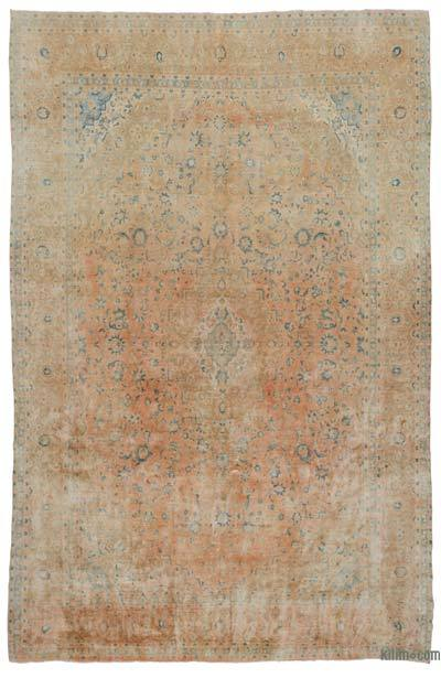 "Vintage Hand-knotted Oriental Rug - 9'7"" x 15' (115 in. x 180 in.)"