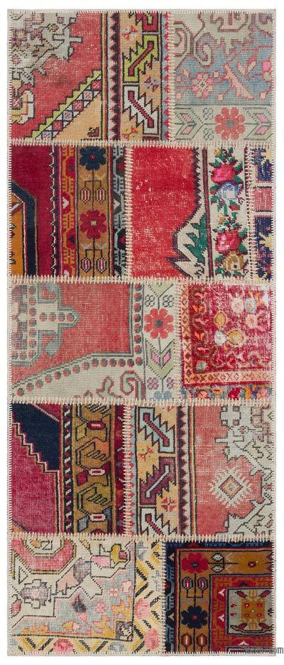 Turkish Patchwork Rug - 2'7'' x 6'4'' (31 in. x 76 in.)