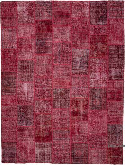 "Over-dyed Turkish Patchwork Rug - 7'10"" x 9'11"" (94 in. x 119 in.)"
