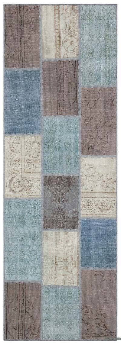 Over-dyed Turkish Patchwork Rug - 3'4'' x 9'11'' (40 in. x 119 in.)