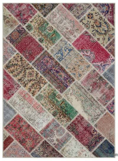 Turkish Patchwork Rug - 5'3'' x 7'1'' (63 in. x 85 in.)